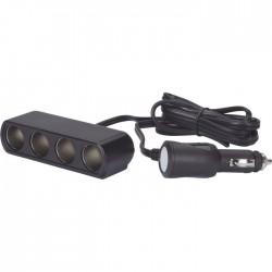 Priza adaptor 4x bricheta Auto/TIR, 12V/24V, 10A, cablu 2m, Herbert Richter,
